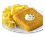 5. Vyprážaný syr, hranolky, tatarská omáčka  (110g/250g/30g) – 1,3,7,10