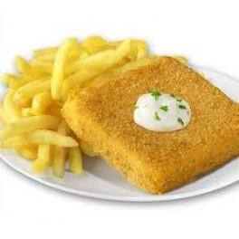 5. Vyprážaný syr s hranolkami, tatarská omáčka  ( 110g/250g/30g ) – 1,3,7